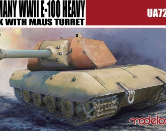 Сборная модель Танк Germany WWII E-100 Heavy Tank with Maus turret