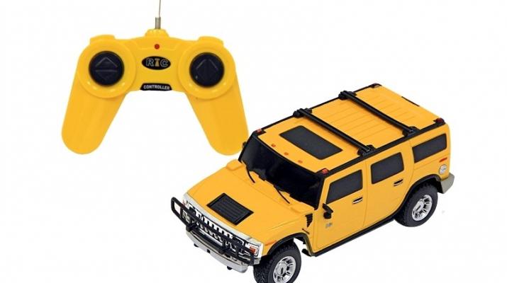 HUMMER H2 SUV на радиоуправлении, yellow