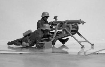Сборная модель Германский пулеметный расчет II МВ (2 фигуры)