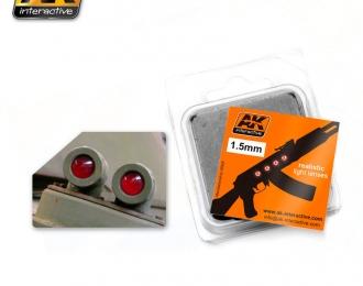 Линзы прозрачные RED 1,5mm