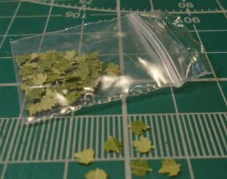 Листья для диорам Клен зеленый
