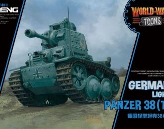 Сборная модель Немецкий легкий танк Pz.Kpfw 38 (t) (Прага) (сборка без клея, для детей, карикатура)