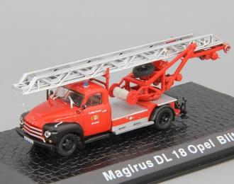 Magirus DL18 OPEL Blitz, red