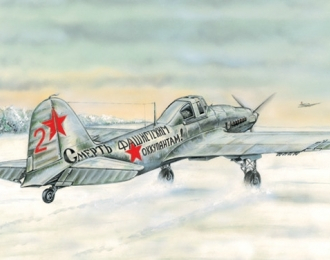 Сборная модель Советский штурмовой самолет Ил-2