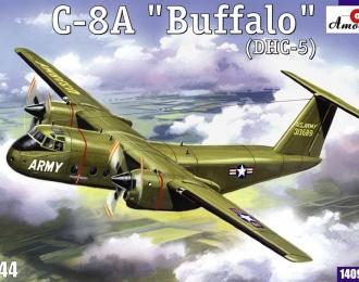 Сборная модель Американский военно-транспортный самолет de Havilland Canada C-8A Buffalo (DHC-5)