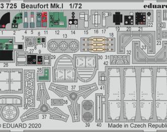 Набор фототравления для Beaufort Mk. I