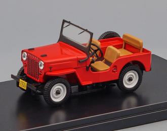 WILLYS JEEP CJ3B 4х4 (1953), red