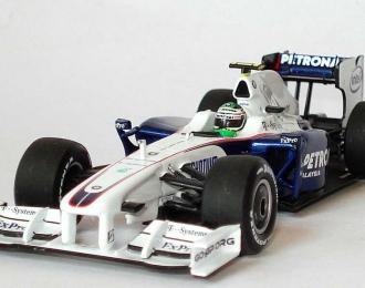 """BMW Sauber F1.09 """"Petronas"""" #6 Nick Heidfeld Formel 1 (2009), white"""