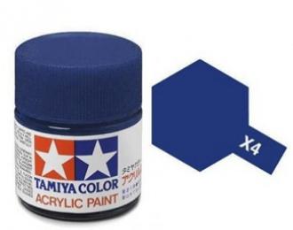 X-4 Blue (краска акриловая глянцевая, синяя), 10 мл.