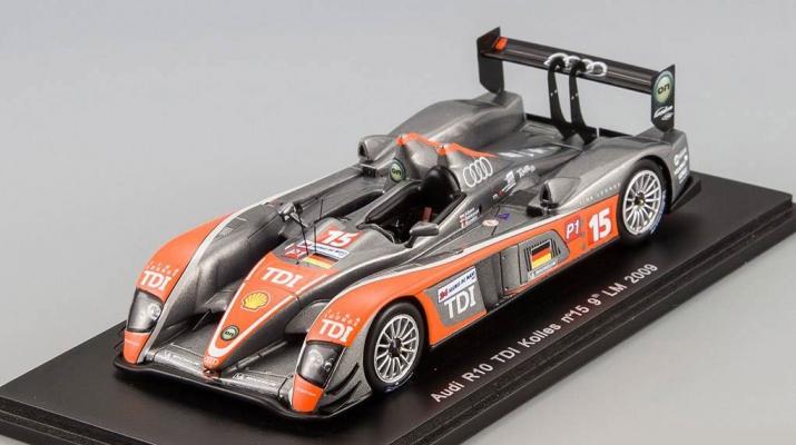 AUDI R10 TDi Kolles №15 9th Le Mans (G.Mondini – C.Albers – C.Bakkerud) 2009, gray