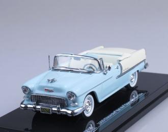 CHEVROLET Bel Air Convertible (1955), light blue / light beige