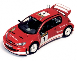 PEUGEOT 206 WRC #1 Gronholm-Rautiainen Rally Argentina (2003), red