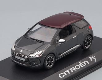 CITROEN  DS3  2010, greymetallic darkred roof