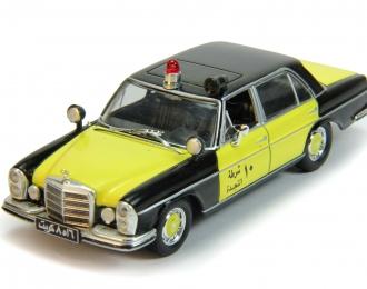 MERCEDES-BENZ W108 Полиция Кувейта, Полицейские Машины Мира 79, черно-желтый