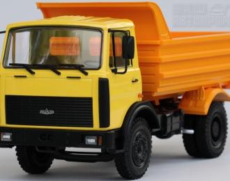 МАЗ 555102 самосвал (1991-1999), желтый / оранжевый