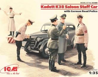 Сборная модель Kadett K38 седан, с германской дорожной полицией