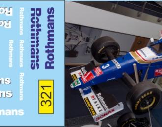 Набор декалей Formula 1 №54 Williams FW19