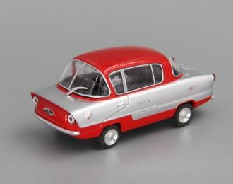 ИМЗ НАМИ А50 Белка, Автолегенды СССР 115, серебристый с красным