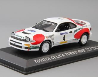 TOYOTA Celica Turbo 4WD Rallye Catalunya 1992 C.Sainz - L.Moya #4, white