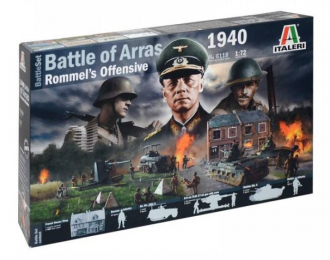 Сборная миниатюра WWII: 1940 BATTLE OF ARRAS - ROMMEL'S OFFENSIVE - BATTLE SET