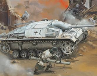 Сборная модель  WWII German StuG III Ausf C/D with 75mm StuK 37/L24 & 75mm StuK40/L48 (2 in 1)