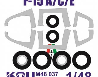 Окрасочная маска на F-15 A/C/E (Italeri)