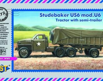 Сборная модель Студебеккер US6 мод. U6 с полуприцепом