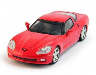 CHEVROLET Corvette Z51 Coupe, Суперкары 6, red