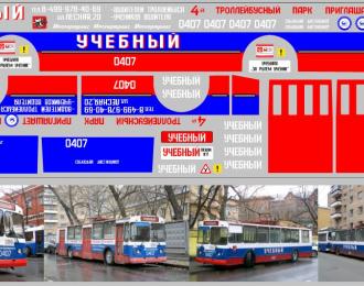 Набор декалей Троллейбус УЧЕБНЫЙ (100х290)