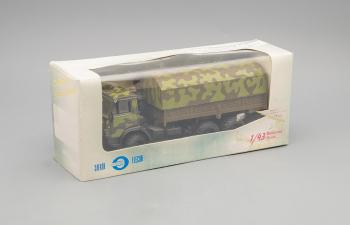 Камский грузовик 4310 с тентом (поворотные колеса), камуфляж