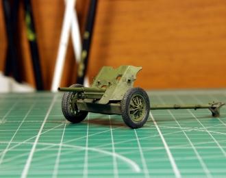 45-мм противотанковая пушка 53-К, запыленная