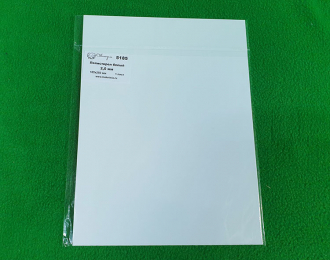 Полистирол белый лист 2,0 мм - 185х250 мм - 1 шт
