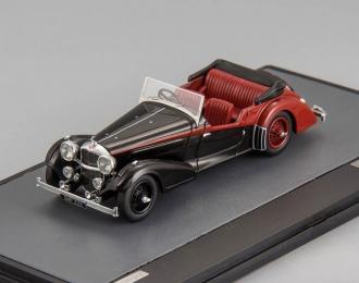 ALVIS 4.3 Litre Vanden Plas Tourer Cabriolet (1938), black / red