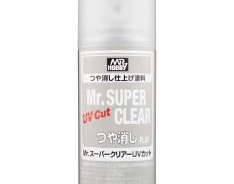 Аэрозольная краска Mr.SUPER CLEAR UV Cut 170мл (в баллоне)
