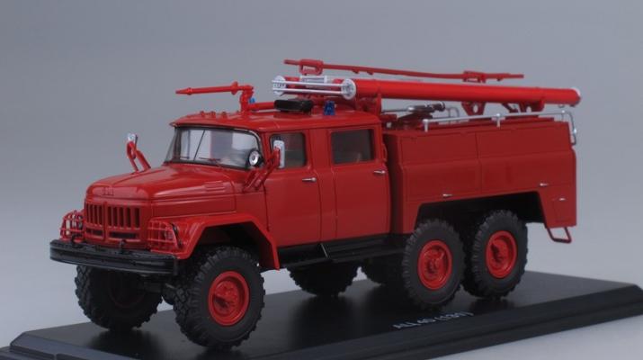 АЦ-40 (ЗИЛ 131)-137 без полос, красный
