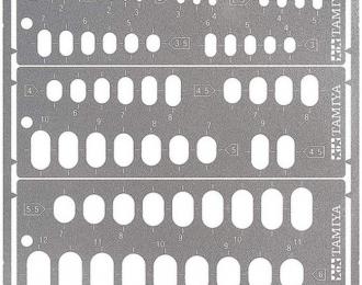Трафарет для нанесения на пластик овалов (1 до 12мм)