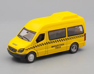 MERCEDES-BENZ Sprinter Такси, yellow + световые и звуковые эффекты