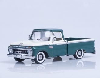 FORD F-100 Custom Cab Pickup (1966), wimbledon white / holly green
