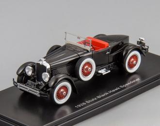 STUTZ Blackhawk Boattail roadster open roof (1928), black