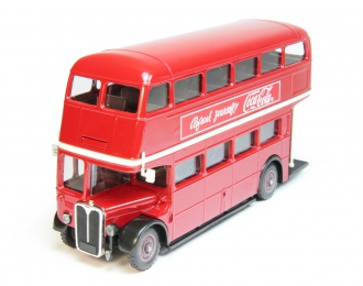 AEC Double Decker London Bus Coca-Cola, red