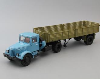 (Конверсия!) МАЗ 200В с прицепом МАЗ 5215, голубой / зеленый