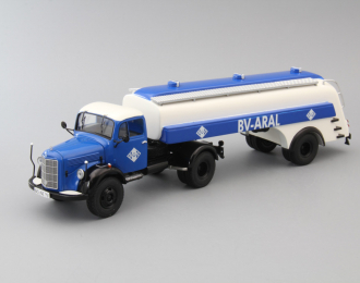 MERCEDES-BENZ L3500 BV-ARAL, blue / white