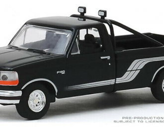 FORD F-150 Pick-Up 4x4 1992 Raven Black with Silver Stripes