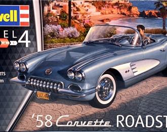 Сборная модель Легковой автомобиль Corvette Roadster 1958г.