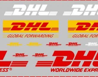 Декаль для фургонов и прицепов DHL, 160 х 50 мм
