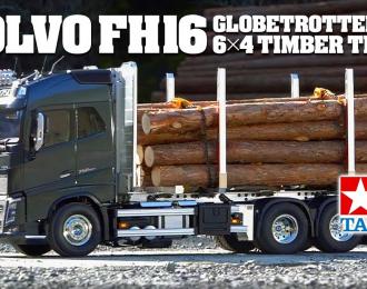 VOLVO FH16 GLOBETROTTER 750 6х4 лесовоз, бревна в комплекте