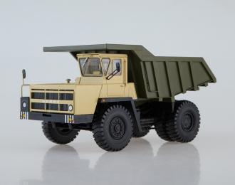 БЕЛАЗ-7522 поздний Карьерный самосвал, бежевый / зеленый