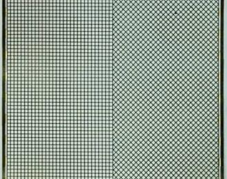 Фототравление Набор из 2 сеток с шагом 1.0 мм, латунь 0.16 мм