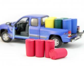 Набор пластиковых евробочек (227 литров) 4 шт, красный