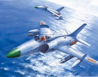 Сборная модель Китайский штурмовик Nanchang Q-5
